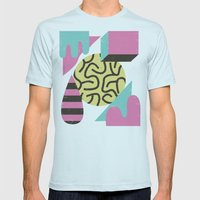 Postiaza Mens Fitted Tee Light Blue SMALL