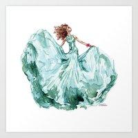 Fashion Blue Turquoise T… Art Print