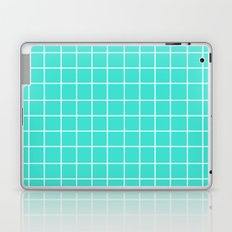 Grid (White/Turquoise) Laptop & iPad Skin