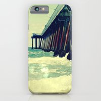 iPhone & iPod Case featuring Hermosa Beach Pier Heart Bokeh by Ginger Mandy
