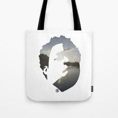 Face & The Ocean Tote Bag