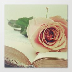 book and the rose. Canvas Print