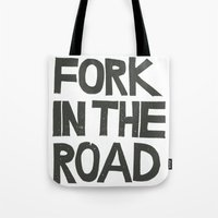 FORK IN THE ROAD Tote Bag
