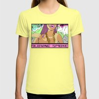Blowing Smoke Womens Fitted Tee Lemon SMALL