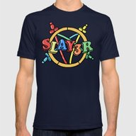 Slayer—For Kids! Mens Fitted Tee Navy SMALL