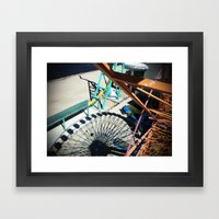 Ferris Wheel in Shadow Framed Art Print
