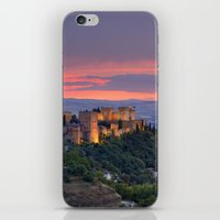 The alhambra and Granada city at sunset iPhone & iPod Skin