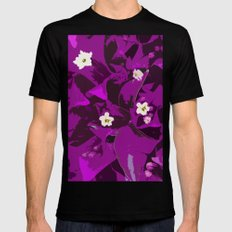 Bouganvilla delight Black Mens Fitted Tee SMALL