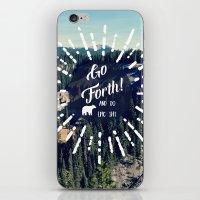 Go Forth! iPhone & iPod Skin