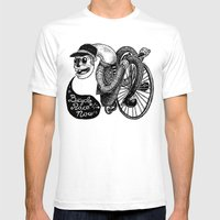Bicycle Race Now! Mens Fitted Tee White SMALL