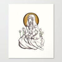 Madonna Of Plastic Canvas Print