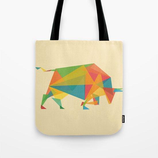 Fractal Geometric Bull Tote Bag