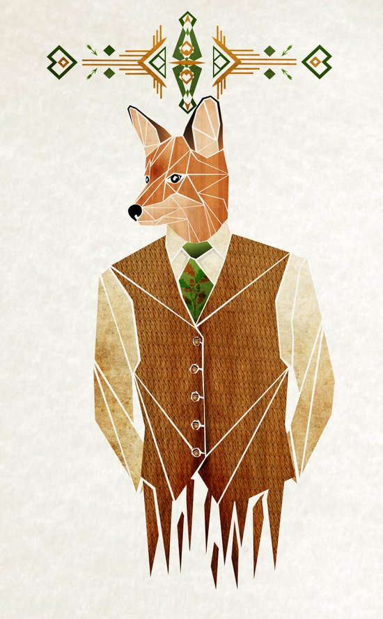 mister fox Canvas Print