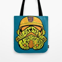 Neon Trooper. Tote Bag