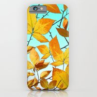 iPhone & iPod Case featuring Autumn Leaves Azure Sky by Patricia Shea Designs