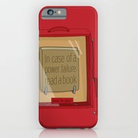 iPhone & iPod Case featuring In case of a power failure: read a book by Old & Brave