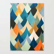 Canvas Print featuring Eccentric Peaks by Diogo Verissimo