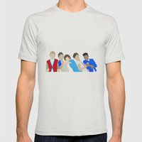 One Direction Mens Fitted Tee Silver SMALL