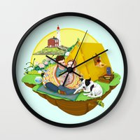 Custom Illustration for Emma and Edward Wall Clock