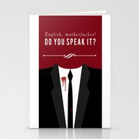 pulp fiction Stationery Cards featuring Pulp Fiction by Jason Vaughan