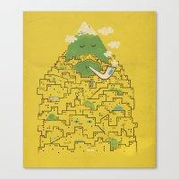 The Bearded City Canvas Print