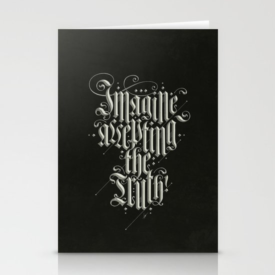 Imagine Accepting The Truth! Stationery Card
