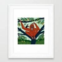 The Orangutan In The Ora… Framed Art Print