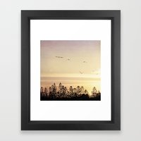 A beautiful day's end Framed Art Print