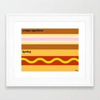 Le Snack Framed Art Print