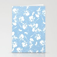 Hydranga pattern  - blue and white Stationery Cards
