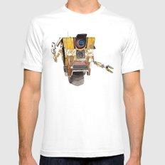Borderlands Claptrap Watercolour Mens Fitted Tee White SMALL