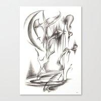 New Moon Melody Canvas Print