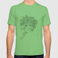 Flower Hair Mens Fitted Tee Grass SMALL