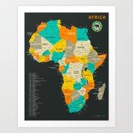 AFRICA MAP Art Print