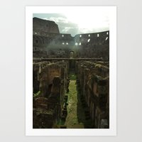 Inside the Colosseum Art Print