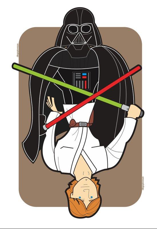 Darth Vader and Luke Canvas Print
