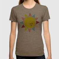 In The Sun Womens Fitted Tee Tri-Coffee SMALL