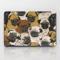 iPad Case featuring Social Pugz by Huebucket