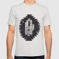Hand Of Fate Mens Fitted Tee Silver SMALL