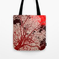 Surreal Red Harmony Tote Bag