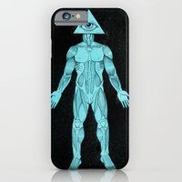 iPhone & iPod Case featuring Seeing Eye, blue by sharkbrains