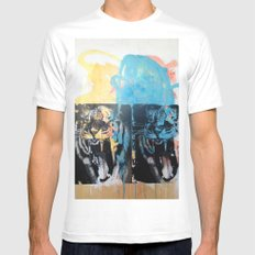 YAWNING TIGERS White Mens Fitted Tee SMALL