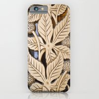 iPhone & iPod Case featuring Bronze Art deco leaves by Wood-n-Images
