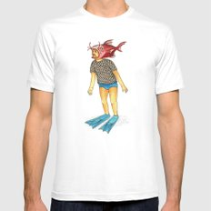 Pescado Mens Fitted Tee SMALL White