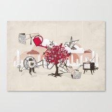 Celluloid Gardens Canvas Print