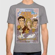 Geek Night: III Once Mor… Mens Fitted Tee Tri-Grey SMALL