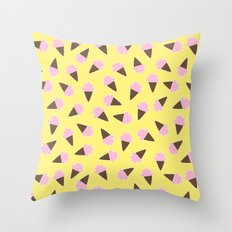 Ice Cream Pattern Throw Pillow