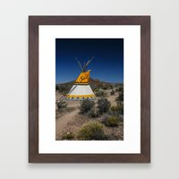Bird Tee Pee Framed Art Print