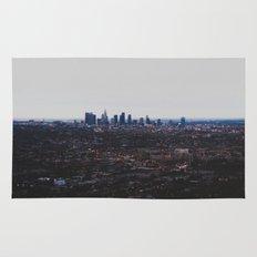 Los Angeles in fog Rug