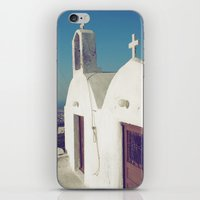 Santorini Churches II iPhone & iPod Skin